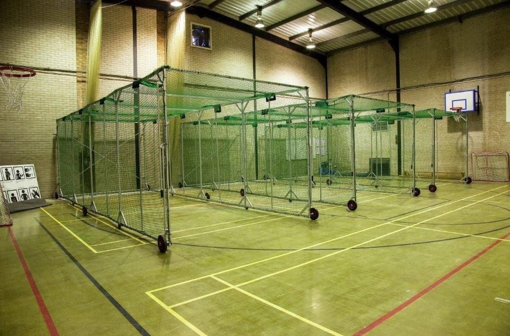 concertina cage in gym